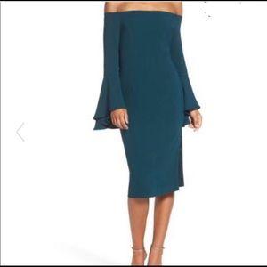 NWOT Bardot Solange' Off the Shoulder Midi Dress